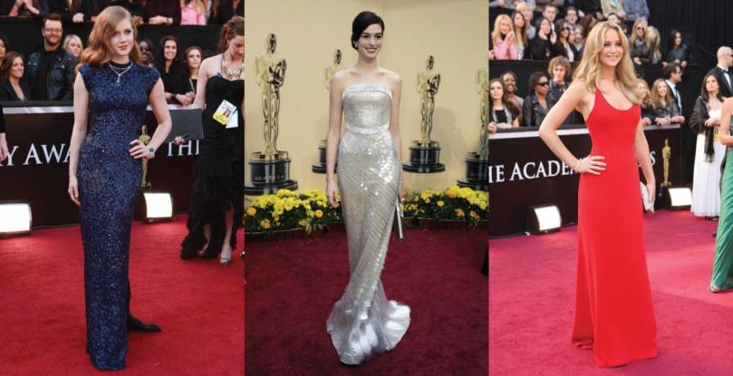 Amy Adams L'Wren Scott Anne Hathaway Armani Jennifer Lawrence Calvin Klein