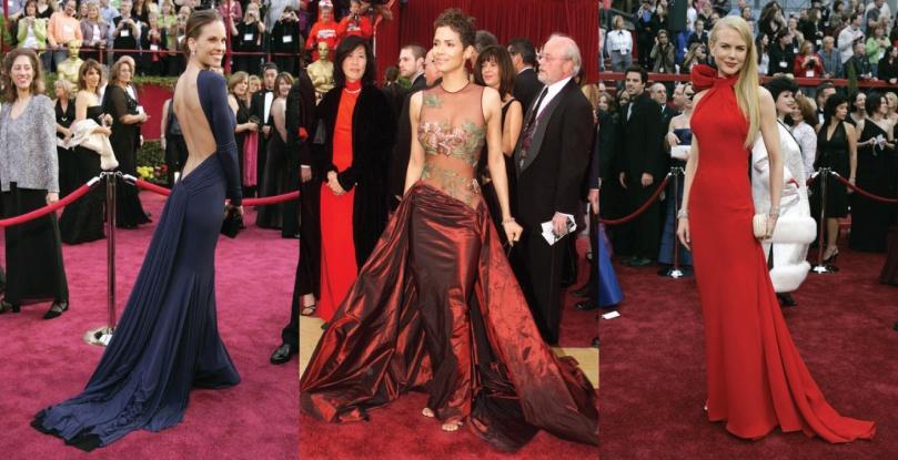 Hilary Swank Guy Laroche Halle Berry Elia Saab Nicole Kidman Balenciaga