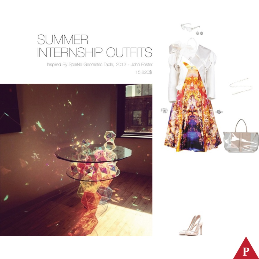 15820$ Summer Internship Outfits Inspired By Sparkle Geometric Table – John Foster