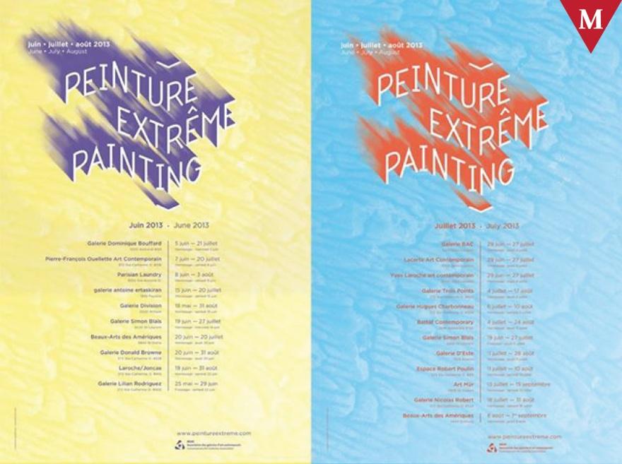 #ArtMTL @AGAC_Canada Peinture Extrême est 90 jours d'exposition dans 20 galeries avec 66 artistes