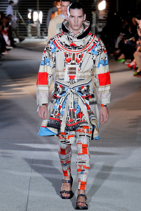 LOOK3 SPRING 2014 MENSWEAR Givenchy
