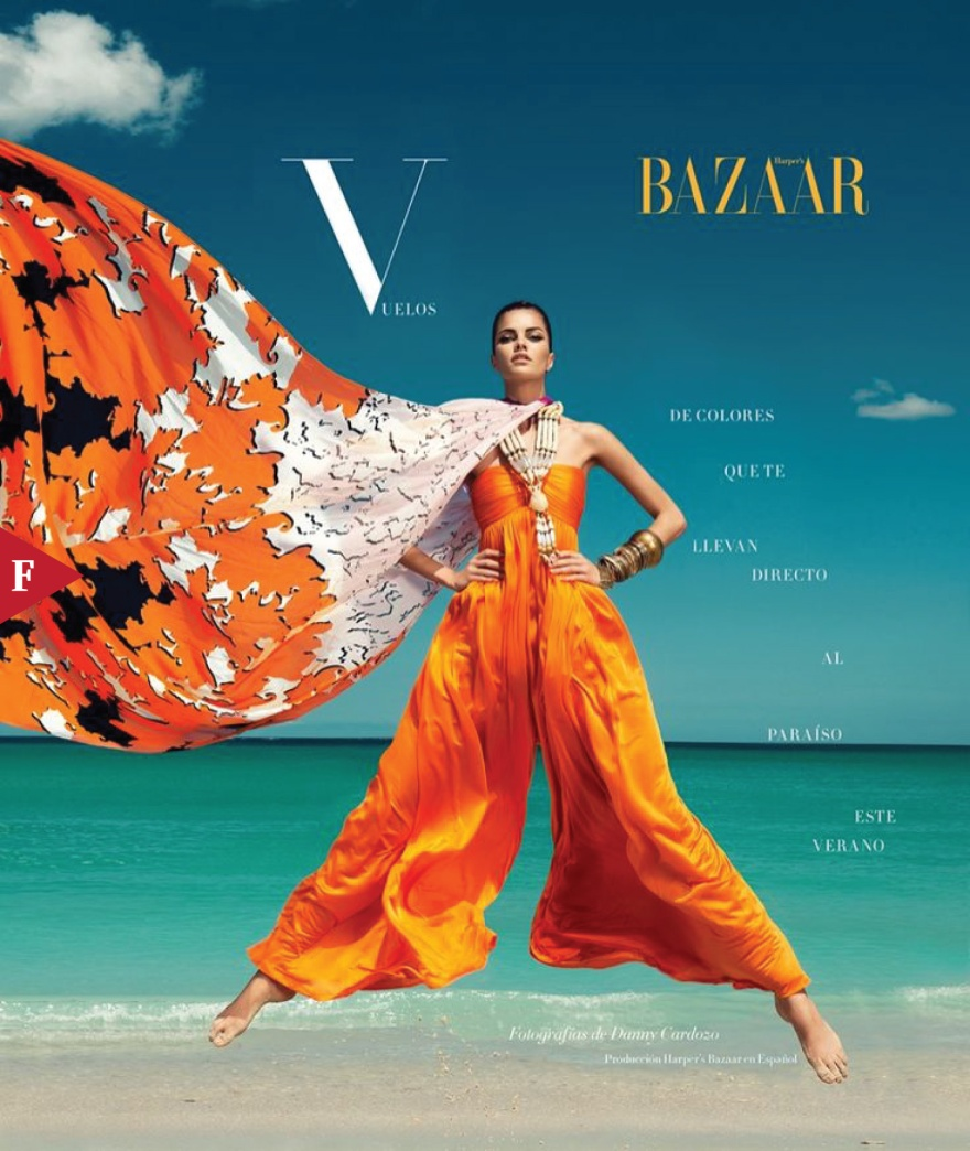 Barbara Fiahlo - The Colors of Summer - Harper's Bazaar Mexico 2013 Danny Cardozo