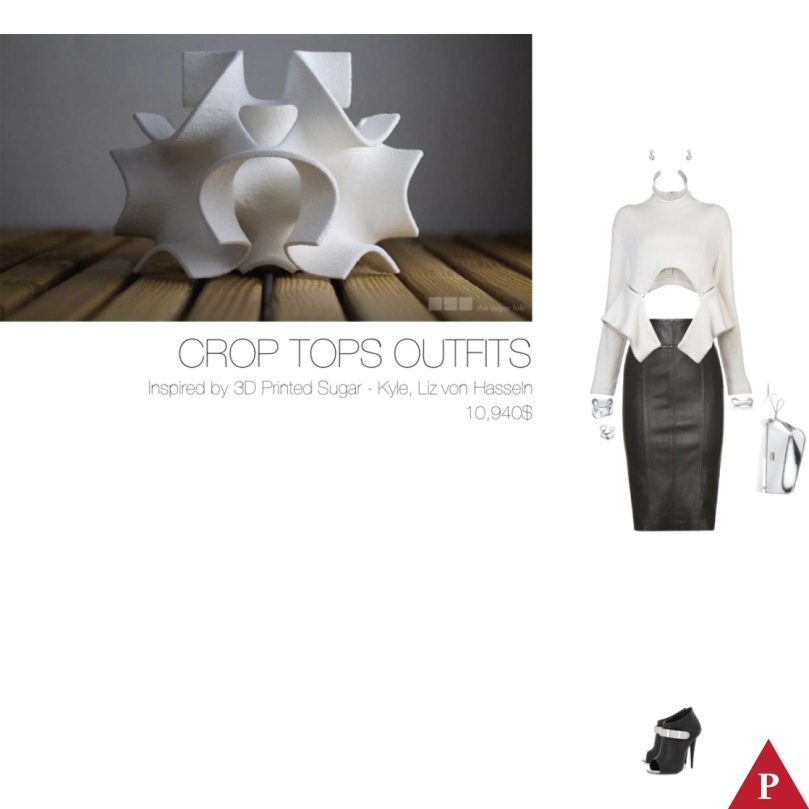 10940$ Crop Tops Outfits Inspired by 3D Printed Sugar – Kyle-Liz von Hasseln