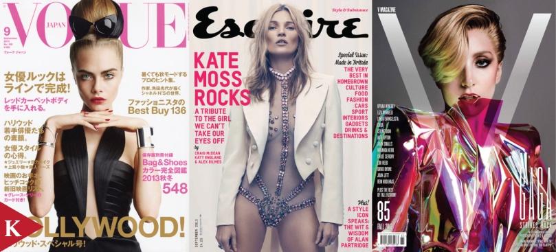 Cara Delevingne Vogue Japan Kate Moss Esquire UK Lady Gaga V Magazine