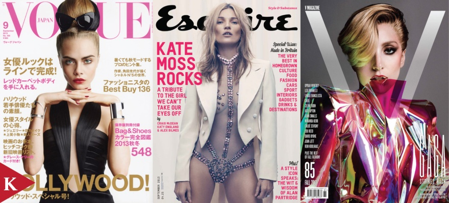 Cara Delevingne Vogue Japan Kate Moss Esquire UK Lady Gaga V Magazine