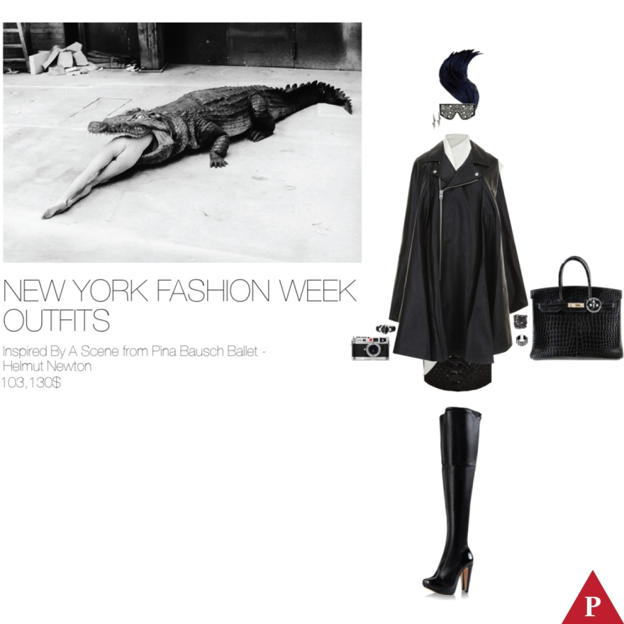 103130$ New York Fashion Week Outfits Inspired By A Scene from Pina Bausch Ballet – Helmut Newton