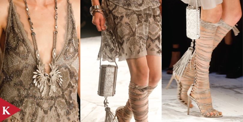 DETAIL OF LOOK SPRING 2014 READY-TO-WEAR Roberto Cavalli