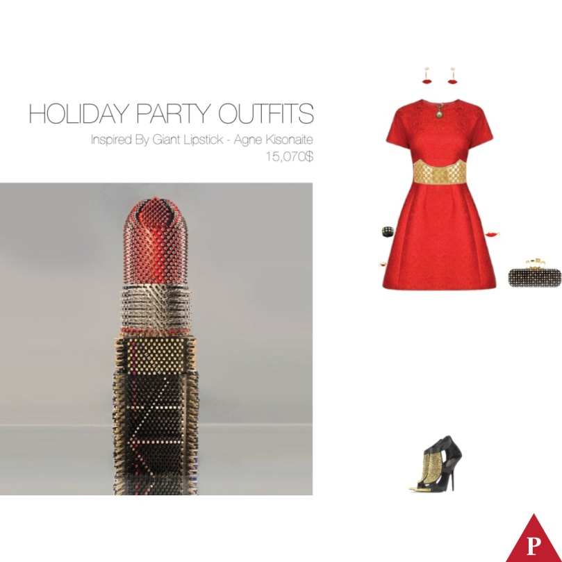 15070$ Holiday Party Outfits Inspired By Giant Lipstick – Agne Kisonaite