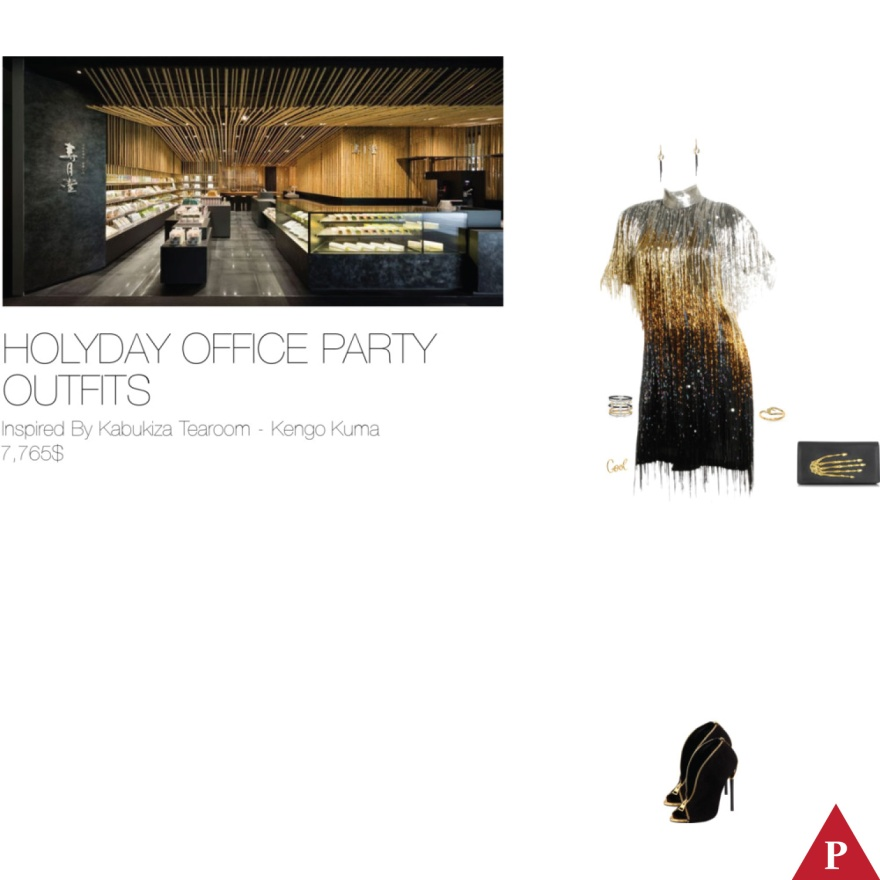 7765$ Holiday Office Party Outfits Inspired By Kabukiza Tearoom – Kengo Kuma