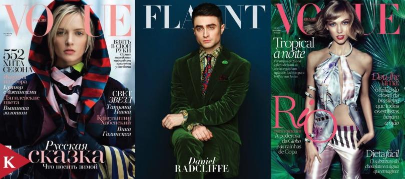 Daria Strokous Patrick Demarchelier Vogue Russia Daniel Radcliffe Adam Whitehead Flaunt Magazine Karlie Kloss Henrique Gendre Vogue Brazil