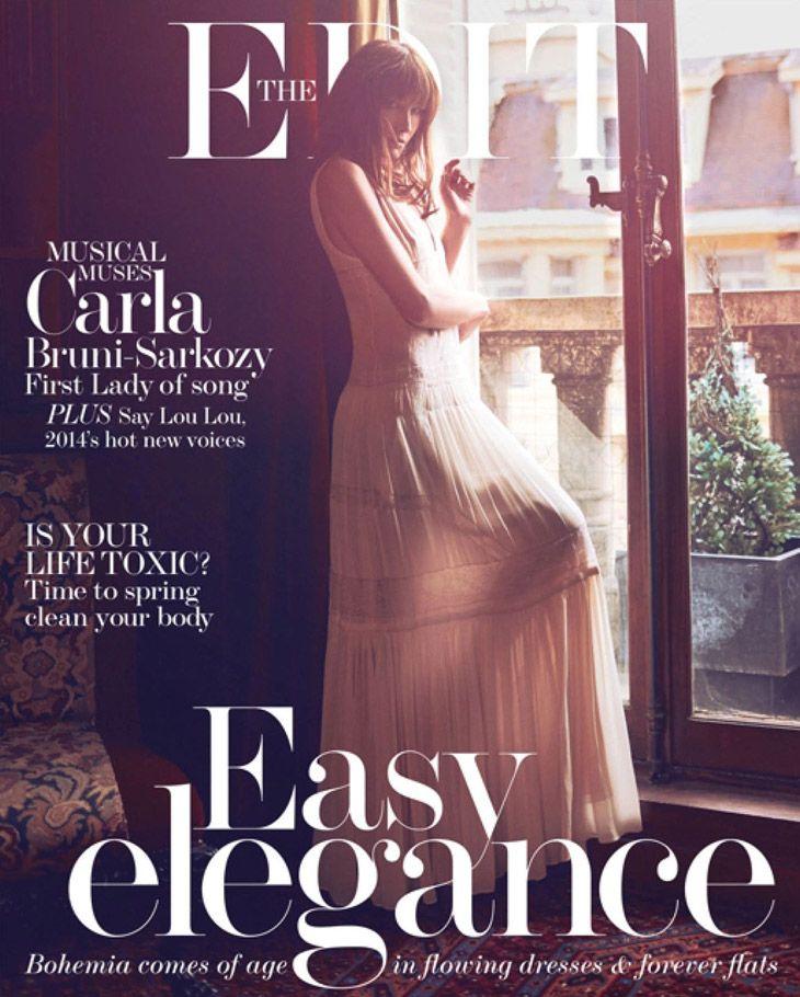 Carla Bruni for Edit Magazine February 2014 by Koray Birand