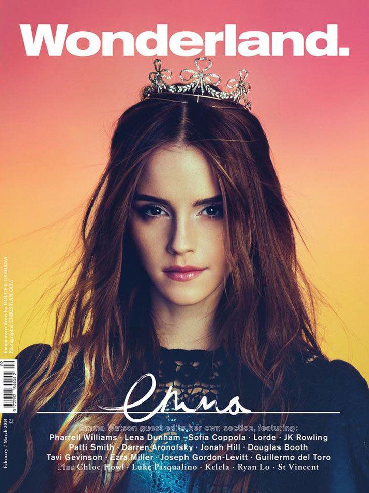 Emma Watson for Wonderland Magazine February 2014 by Kerri Hallihan