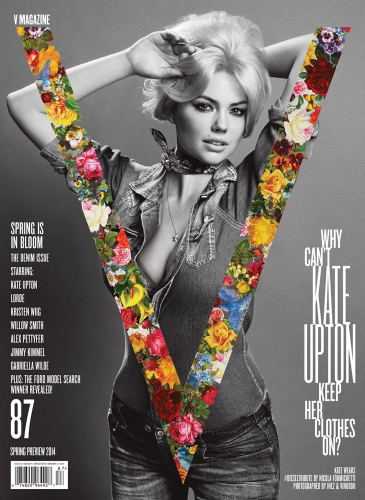 Kate Upton for V magazine February 2014 by Inez van Lamsweerde, Vinoodh Matadin