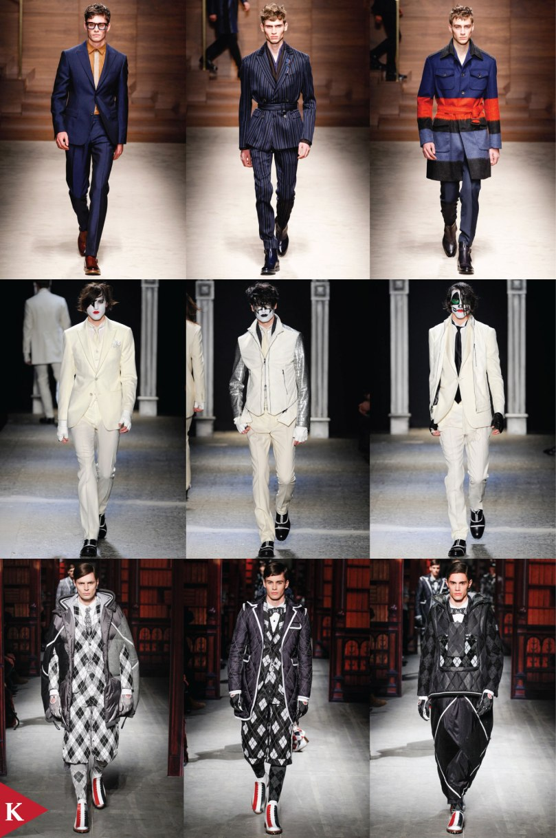Milan FashionWeek - FALL 2014 MENSWEAR - Salvatore Ferragamo - John Varvatos - Moncler Gamme Bleu