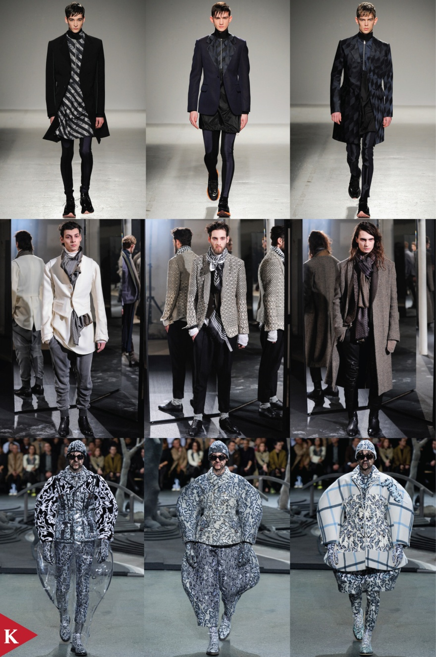 Paris FashionWeek - FALL 2014 - MENSWEAR - John Galliano - Haider Ackermann - Thom Browne
