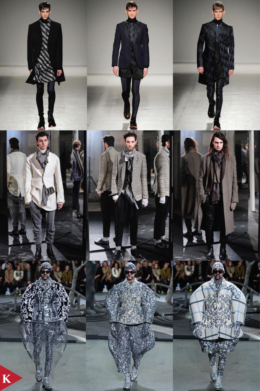 Paris FashionWeek - FALL 2014 - MENSWEAR - John Galliano - Haider Ackermann - Thom Browne