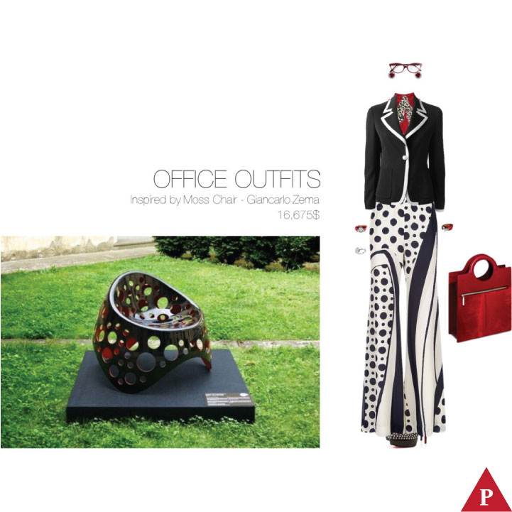 16675$ Office Outfits Inspired Moss Chair – Giancarlo Zema