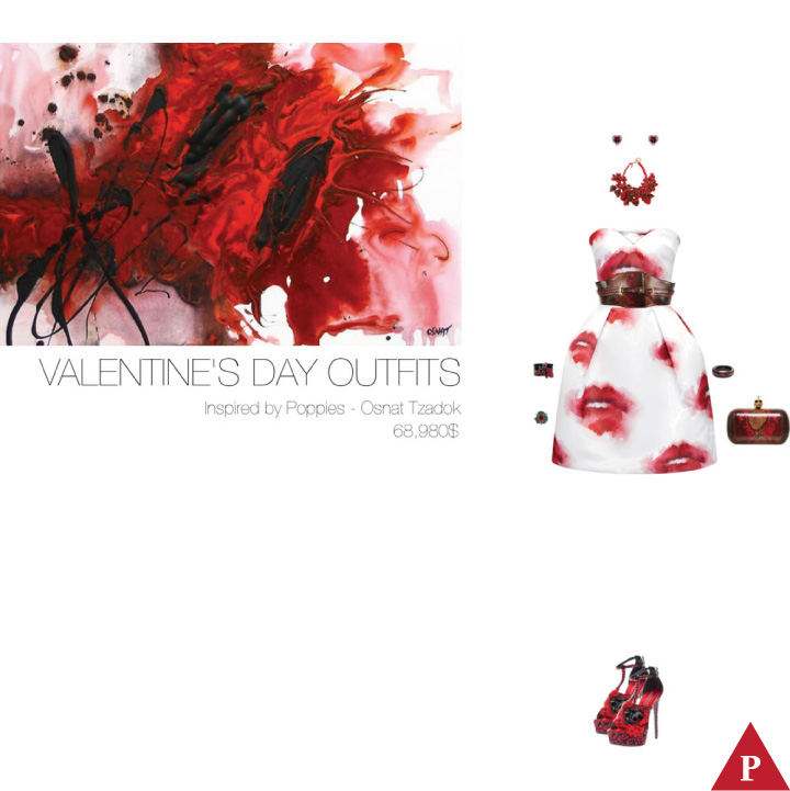 68980$ Valentine's Day Outfits Inspired by Poppies – Osnat Tzadok