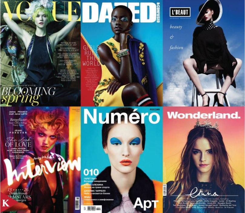 Fashion cover - Vogue Korea - Dazed Confused - L Beau - Interview Germany - Numero Russia - Wonderland