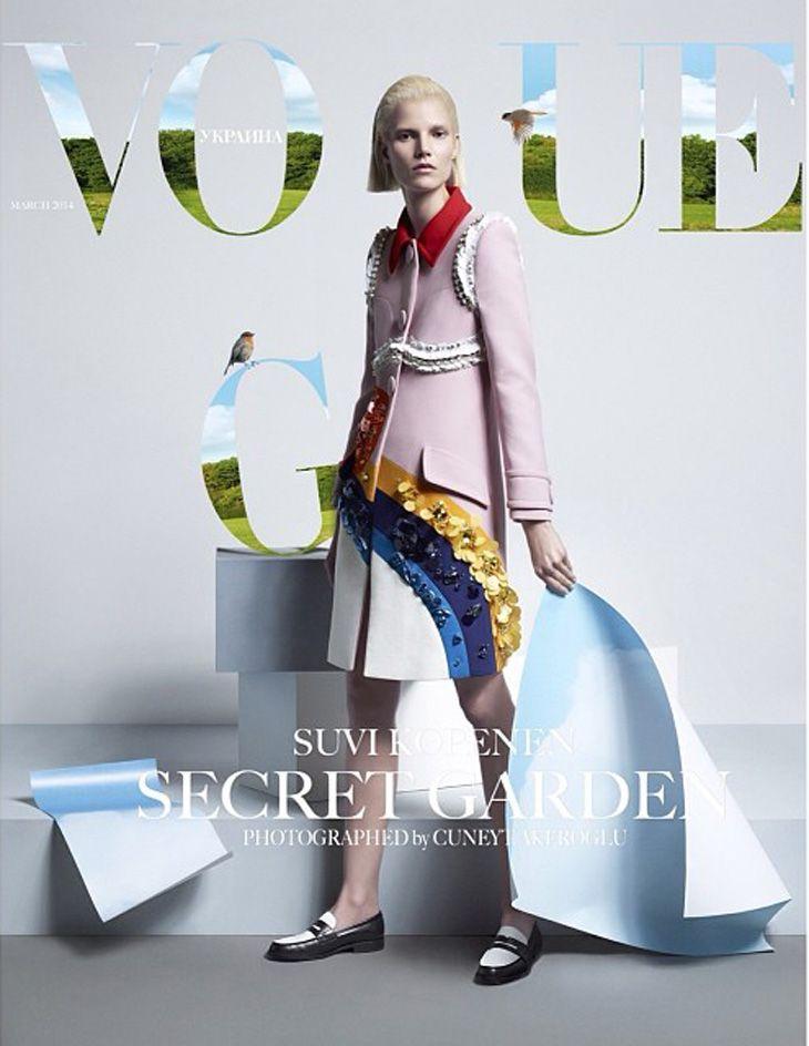 Suvi Koponen for Vogue Ukraine March 2014 by Cuneyt Akeroglu