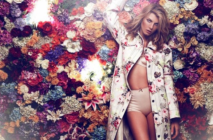 Angela Lindvall - Flower Girl - Elle Russia March 2014 Xavi Gordo