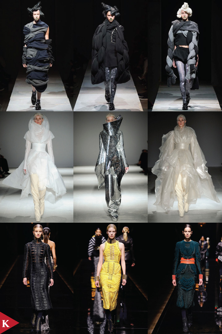 Paris FashionWeek - FALL 2014 READY-TO-WEAR Comme Des Garçons-Gareth Pugh-Balmain
