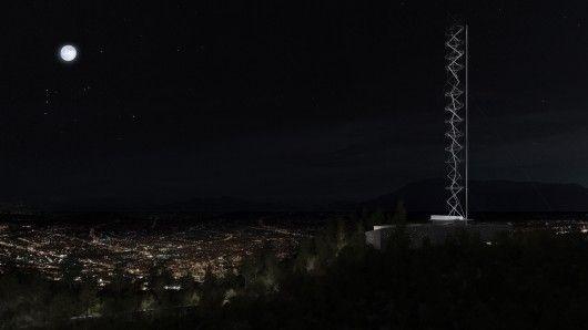 Santiago Antenna Tower - Santiago, Chile, 2014 Smiljan Radic, Gabriela Medrano, Ricardo Serpell