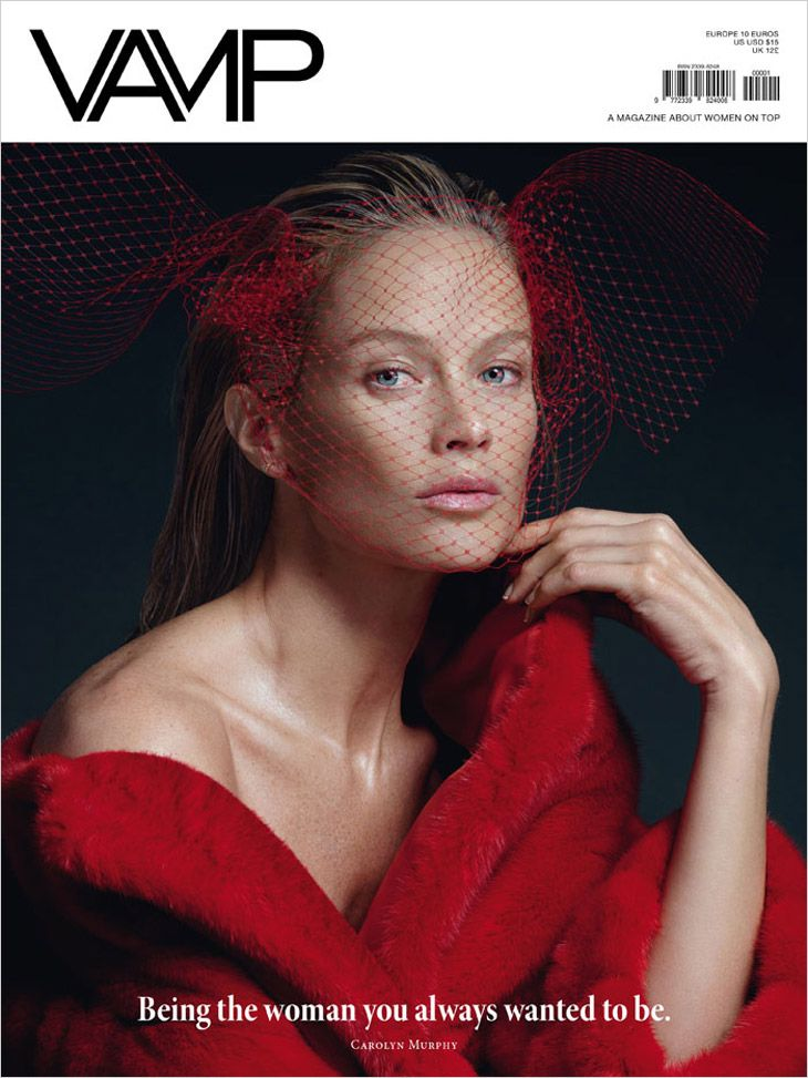 Carolyn Murphy by Santiago Sierra, Mauricio Sierra for VAMP Magazine April 2014