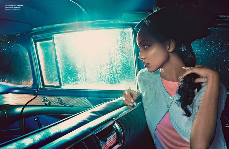 Cora Emmanuel - Think Pink - Numero Russia April 2014 Francesco Carrozzini-cora-emmanuel-model2