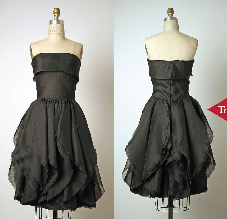Dress 1959 by Pierre Cardin (French- born San Biagio di Callalta- Italy- 1922)-ThrowbackFashion