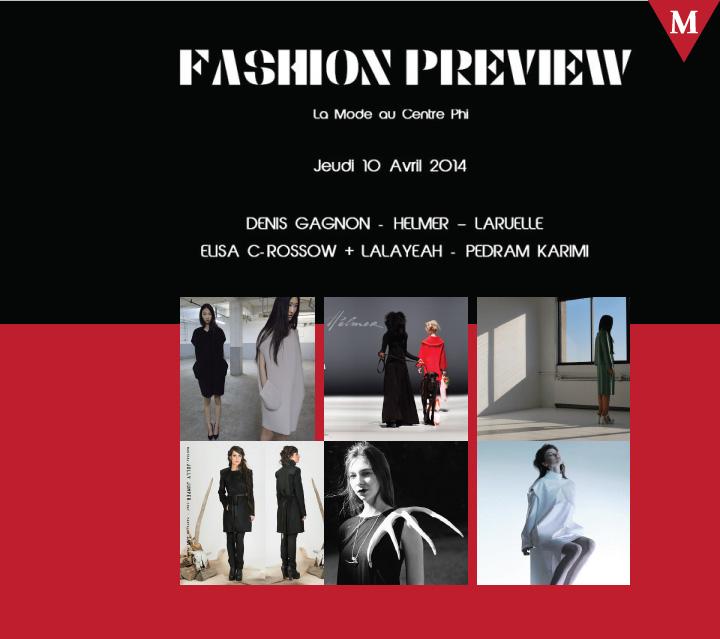 MONTRÉAL EVENT-Fashion Preview