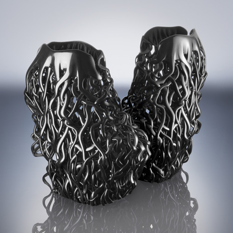 3D-Printed Shoes Iris van Herpen Couture 2013 Rem D Koolhaas, Iris van Herpen