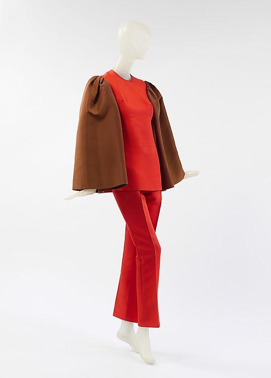 DP146366-Evening ensemble 1968 Madame Grès (Alix Barton) (French, Paris 1903–1993 Var region)