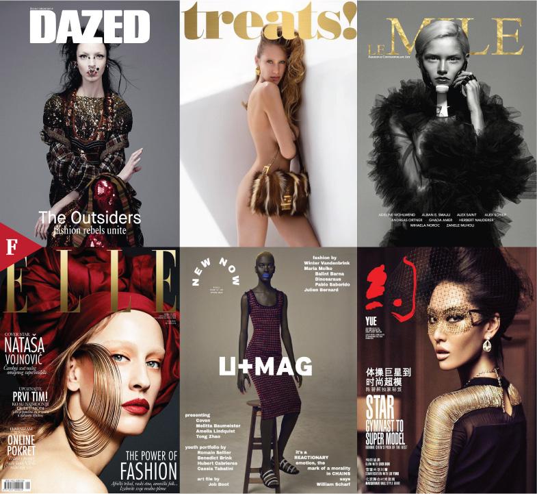 Fashioncovers-Dazed-Treats-Le Mile-Elle Serbia-U Mag-Yue