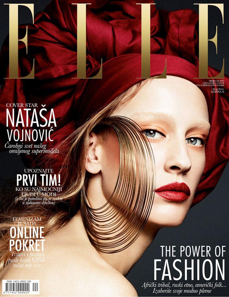Natasa Vojnovic by Dusan Reljin for Elle Serbia May 2014
