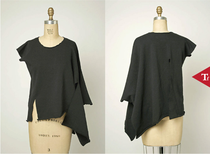 ThrowbackFashion-Shirt 1983 by Comme des Garçons (Japanese- founded 1969)