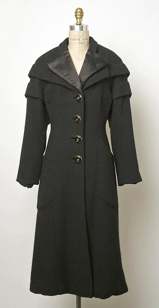 Coat 1949 Elsa Schiaparelli (Italian, 1890–1973)-1984.587.10_F