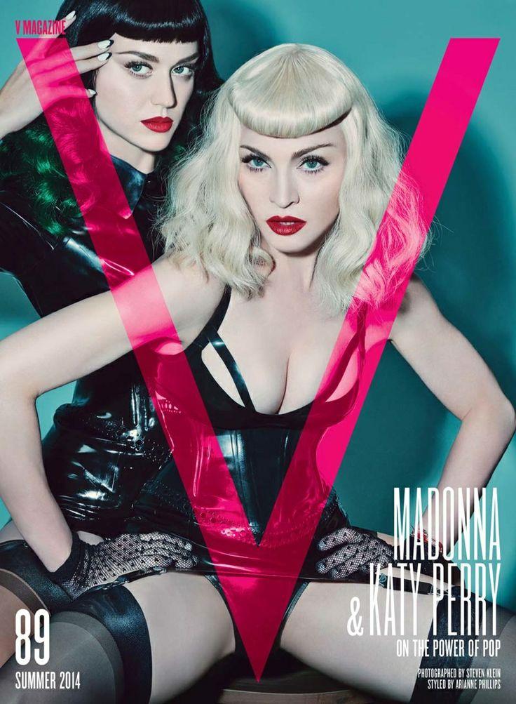 Madonna, Katy Perry by Steven Klein for V Magazine 2014