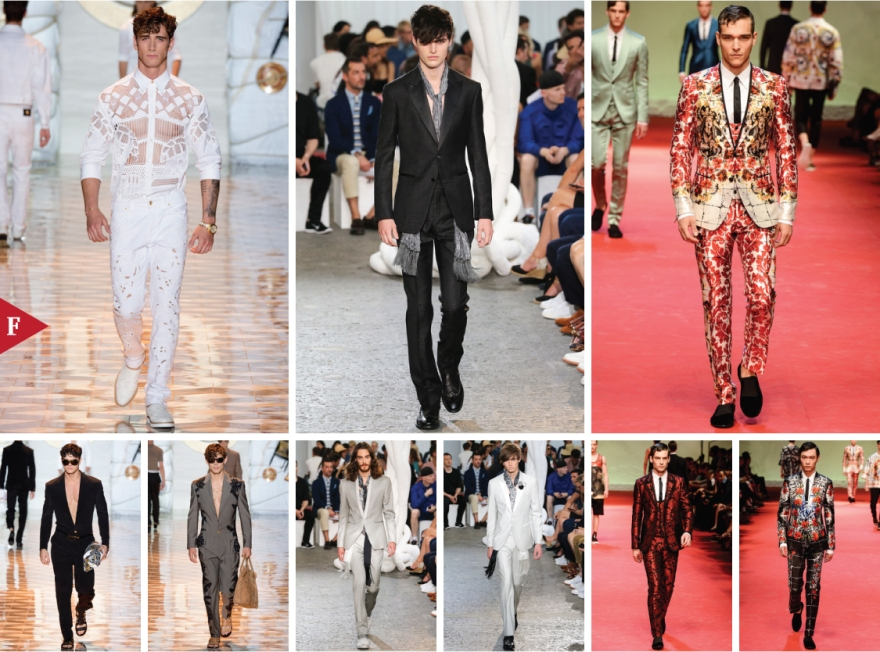 Milan-fashionweek-fall-ready-to-wear-SPRING 2015 MENSWEAR-Versace-John Varvatos-Dolce & Gabbana