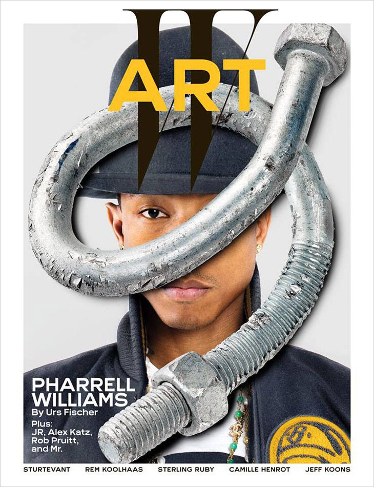 Pharrell Williams by Joshua White for W Magazine Art Issue 2014