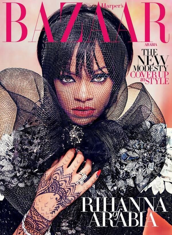 Rihanna by Ruven Afanador for Harper's Bazaar Arabia July 2014