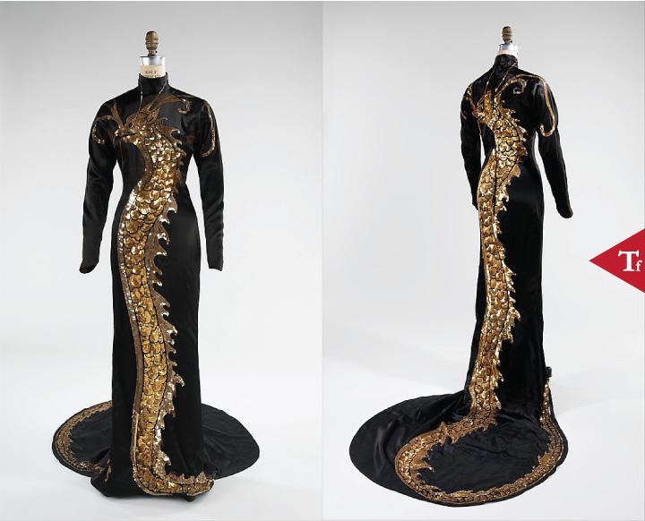 ThrowbackFashion-Evening dress 1934 by Travis Banton (American 1894–1958)