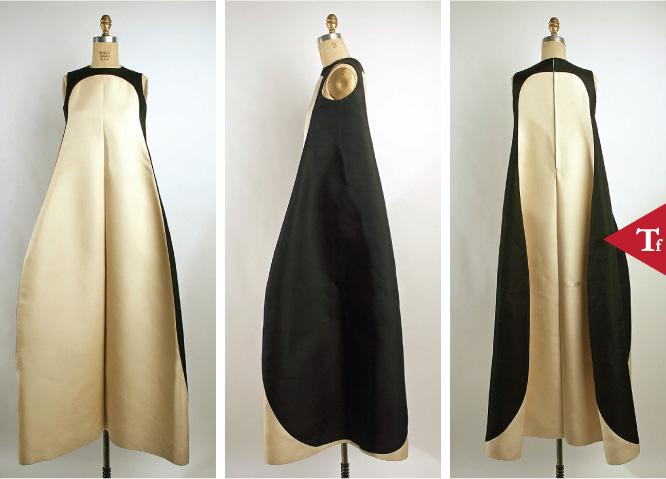 ThrowbackFashion-Evening dress 1968 by Jean Marie Armand