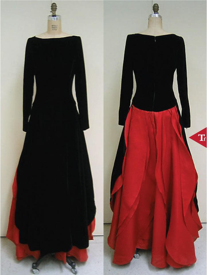 ThrowbackFashion-Evening dress 1996 by Carolina Herrera (American- born Venezuela- 1939)