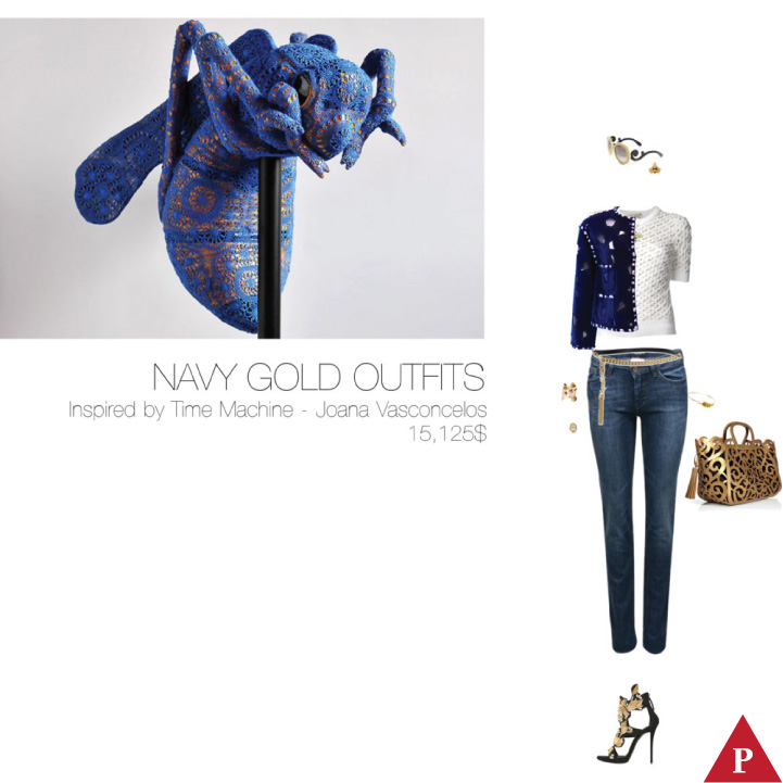 15125$ Navy Gold #MostExpensiveOutfit Inspired by Time Machine – Joana Vasconcelos