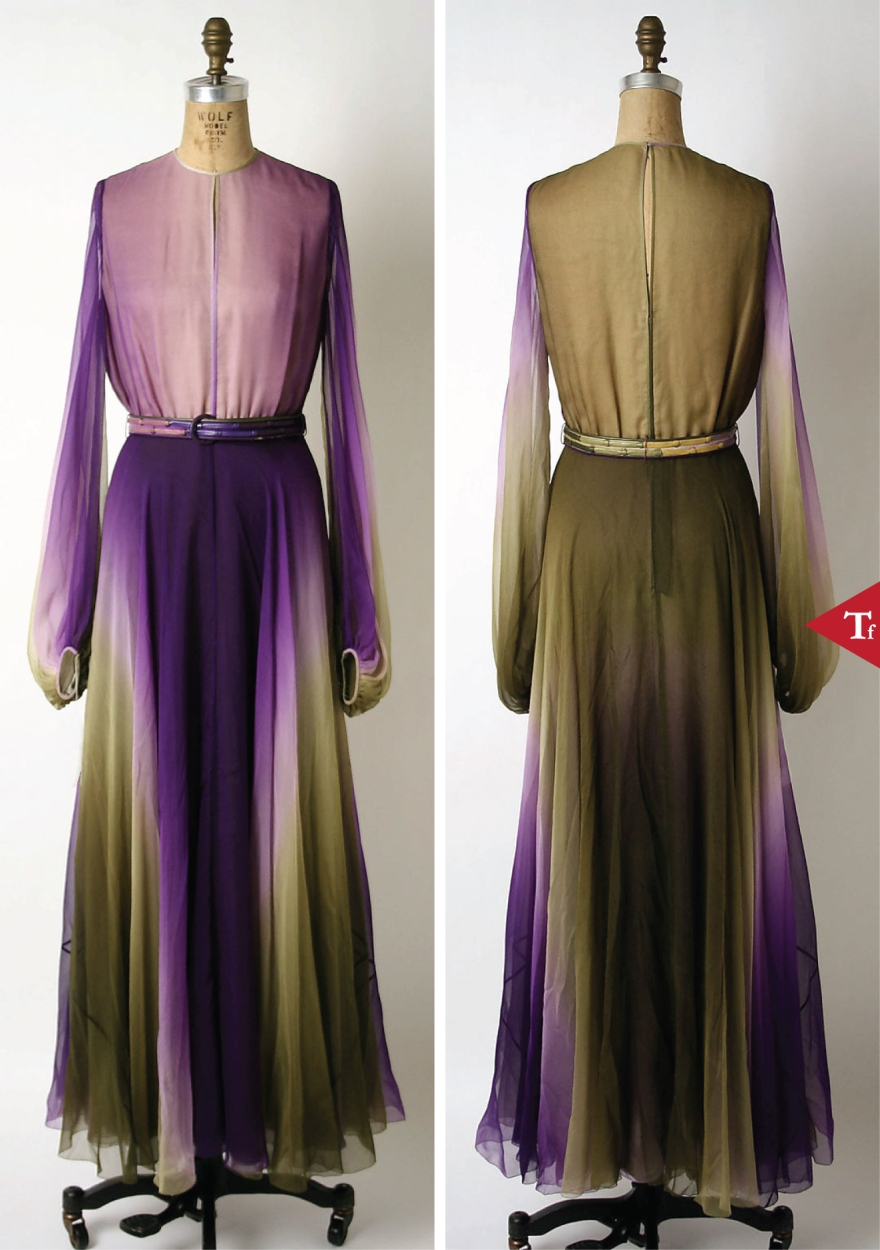 ThrowbackFashion-Evening dress 1972 James Galanos (American born Philadelphia- Pennsylvania- 1924)