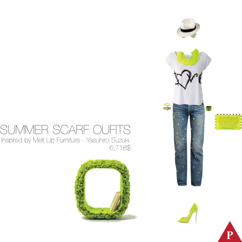 6,718$ Summer Scarf #MostExpensiveOutfit Inspired by Melt Up Furniture collection, 2014 Yasuhiro Suzuki