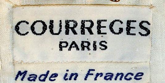 Dress 1965, André Courrèges (French, born Pau, 1923)-1974.136.2_label