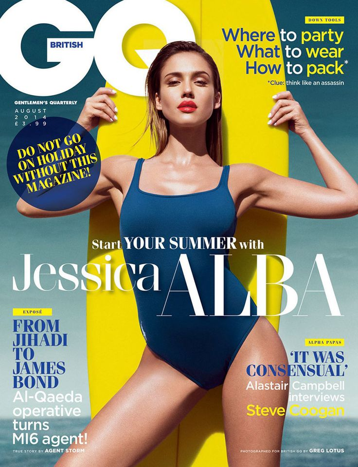 Jessica Alba by Greg Lotus for GQ UK August 2014