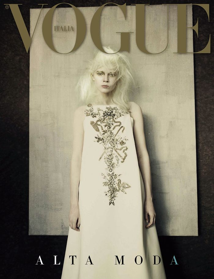 Ola Rudnicka by Paolo Roversi for Vogue Italy September 2014